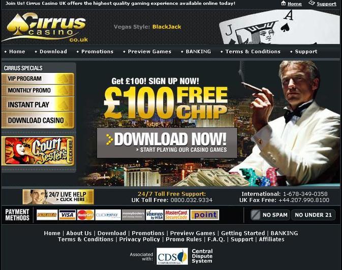 Cirrus Casino UK
