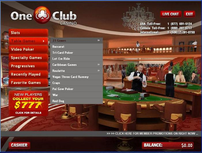 One Club Casino Closed