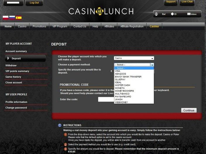 Casino Lunch