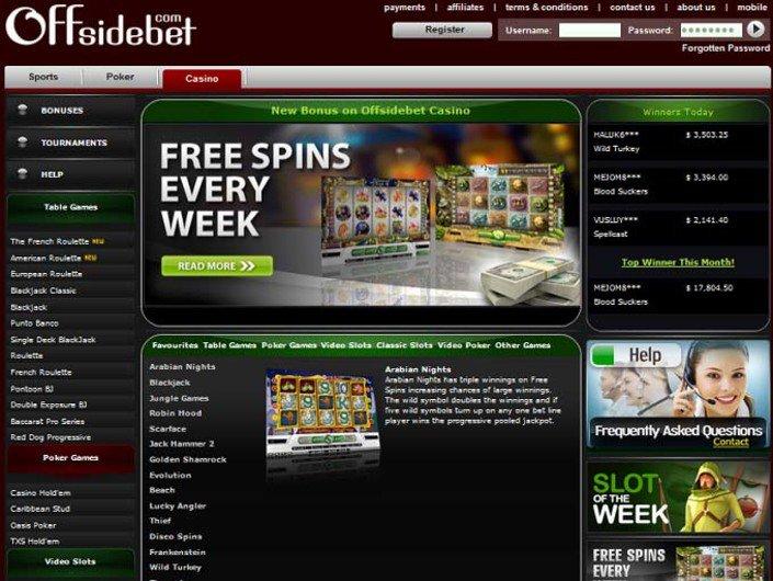 Offsidebet Casino