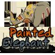 Painted elefant