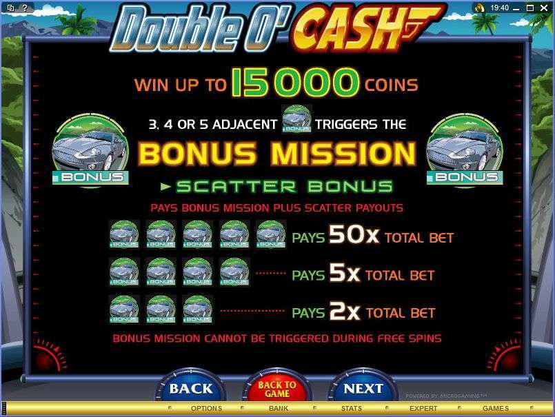 Game Review Double 'O Cash