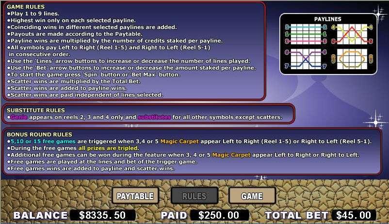 Game Review Magic Carpet