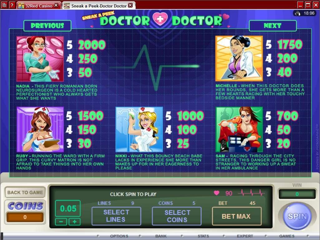 Game Review Sneak a Peek - Doctor Doctor