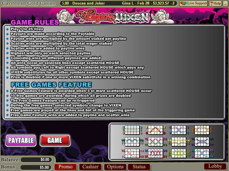 Game Review Vampire Vixen