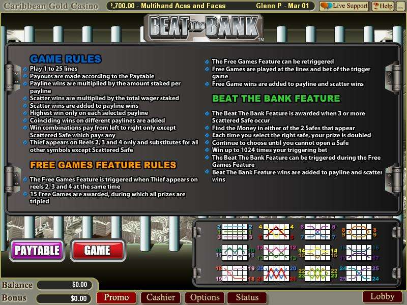 Game Review Beat the Bank