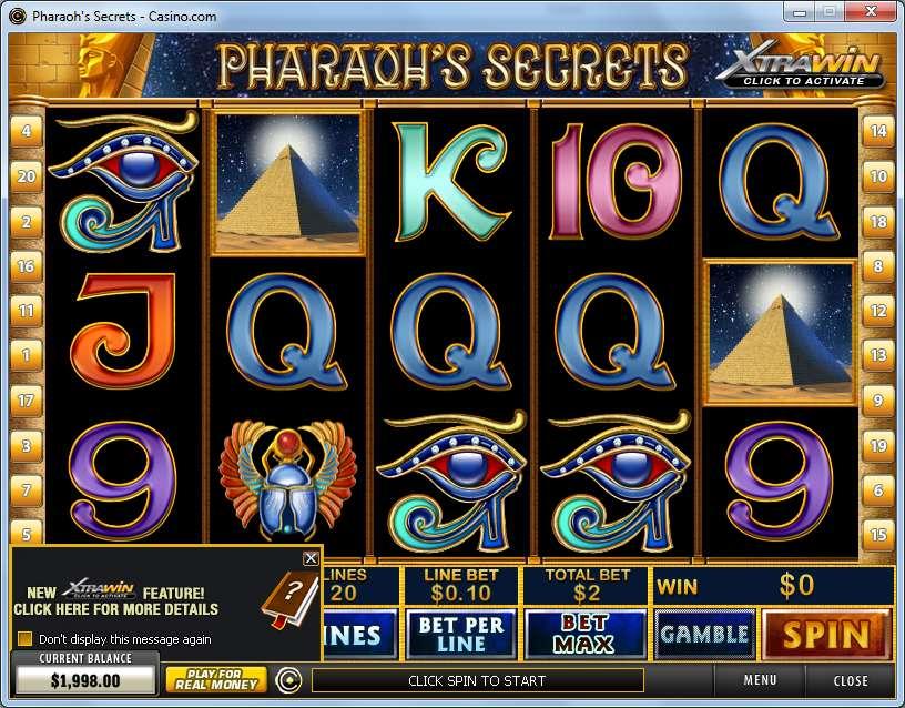 Game Review Pharaoh's Secrets