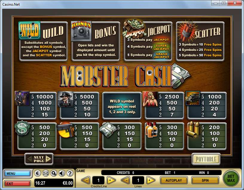 Game Review Mobster Cash