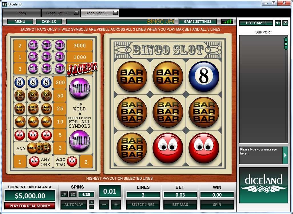 Game Review Bingo Slot 3 Lines
