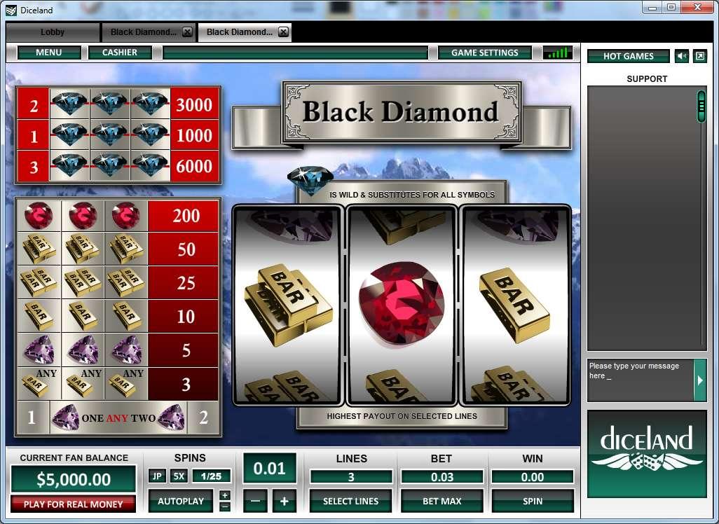 Game Review Black Diamond 3 Lines