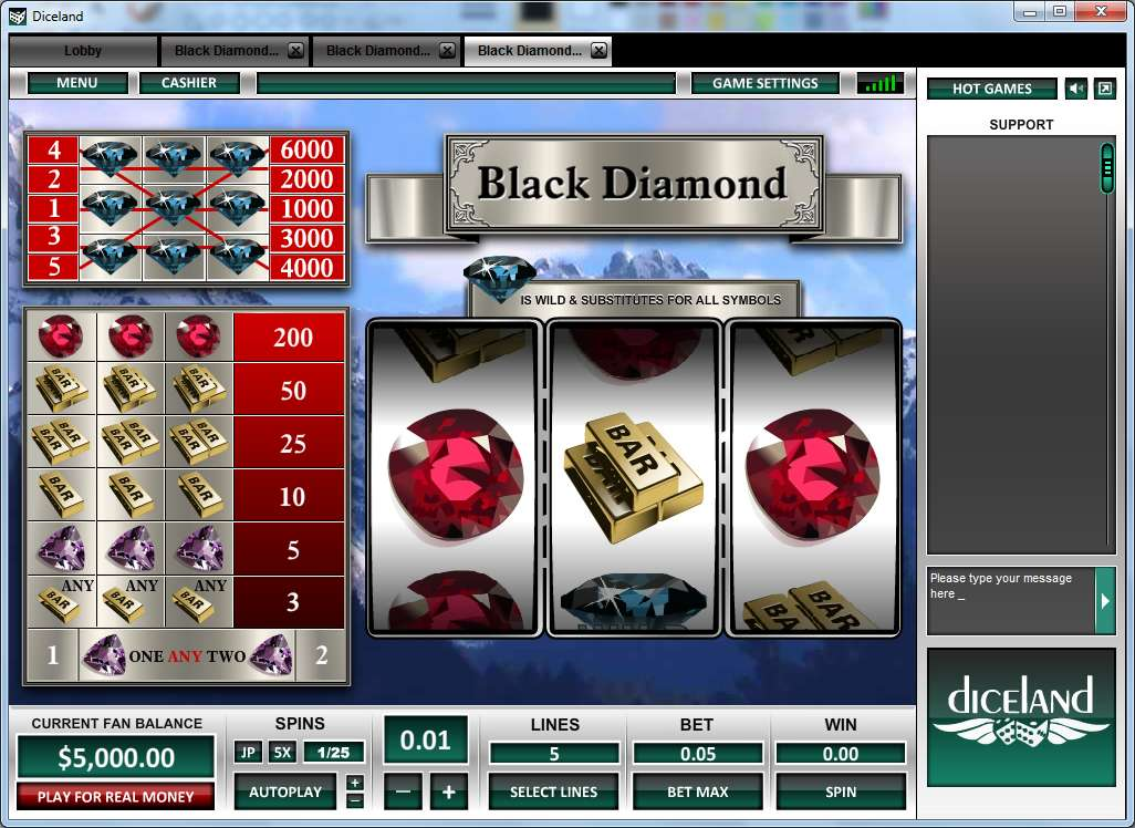 Game Review Black Diamond 5 Lines