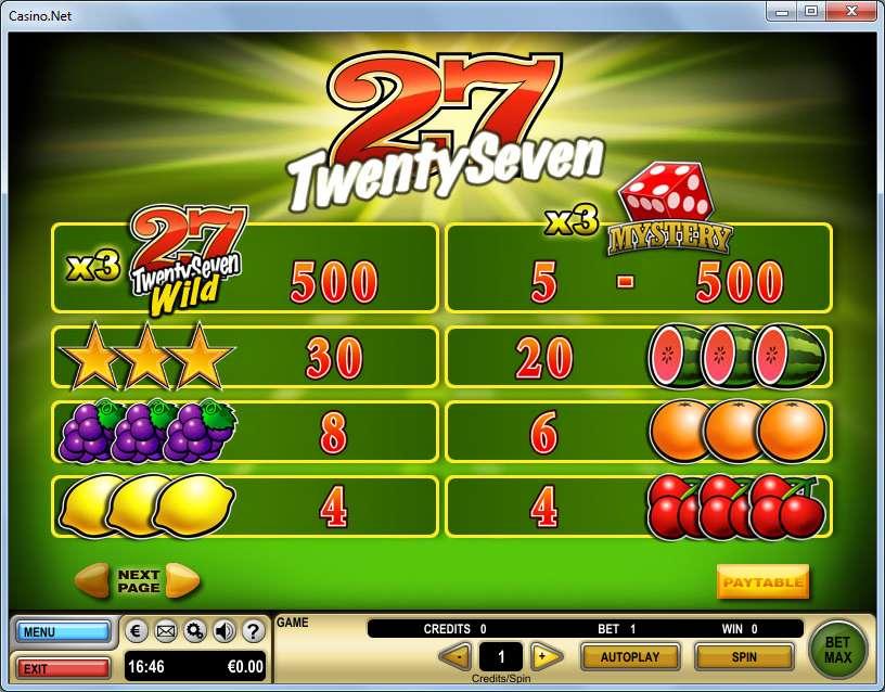 Game Review TwentySeven