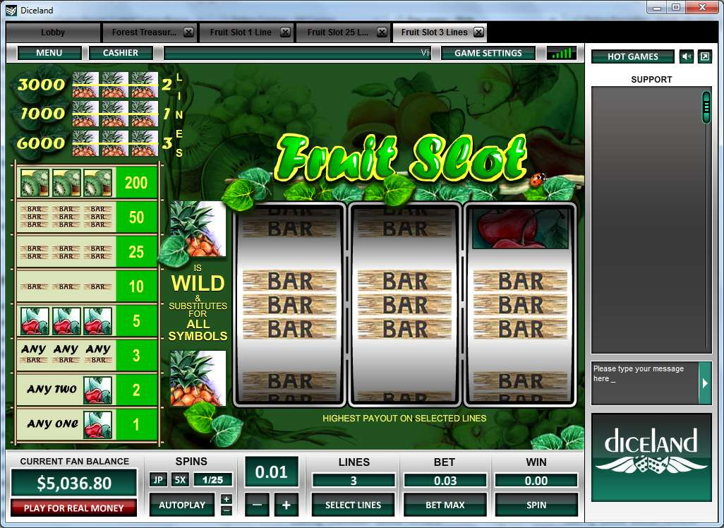 Game Review Fruit Slot 3 Lines
