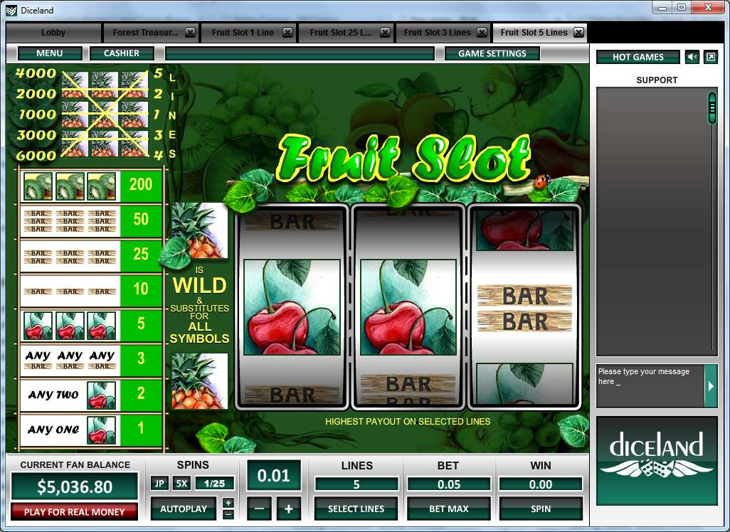 Game Review Fruit Slot 5 Lines
