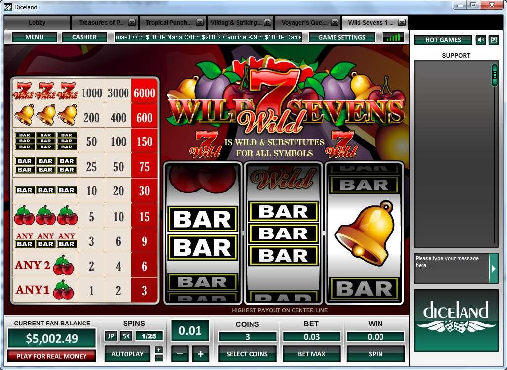 Game Review Wild Sevens 1 Line