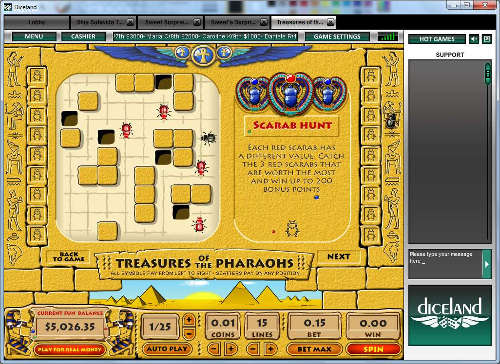 Game Review Treasure Of Pharaohs