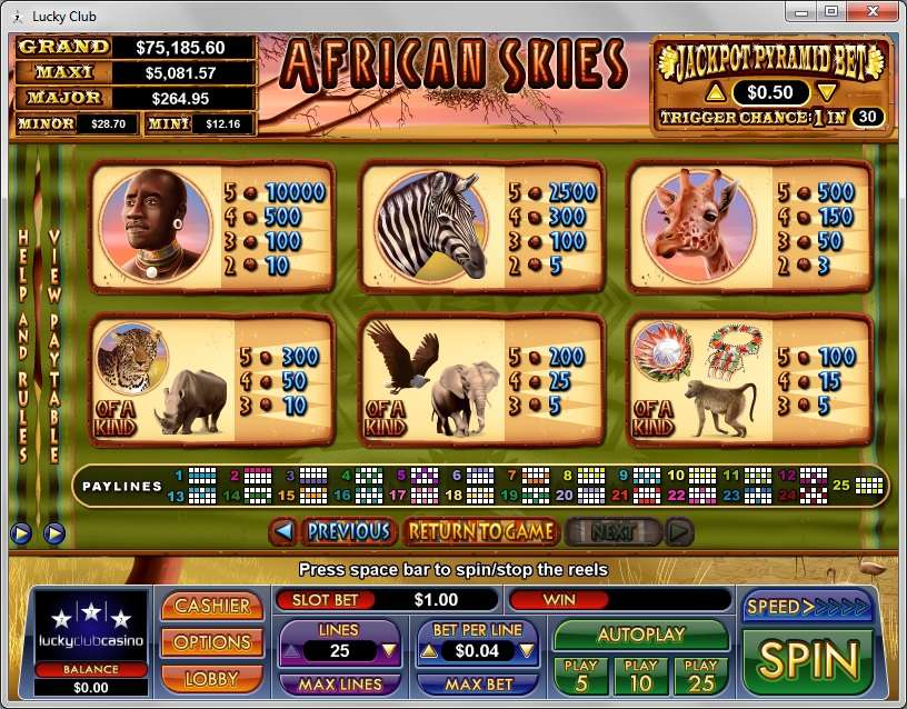 Game Review African Skies