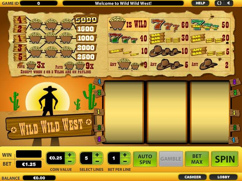 Game Review Wild Wild West