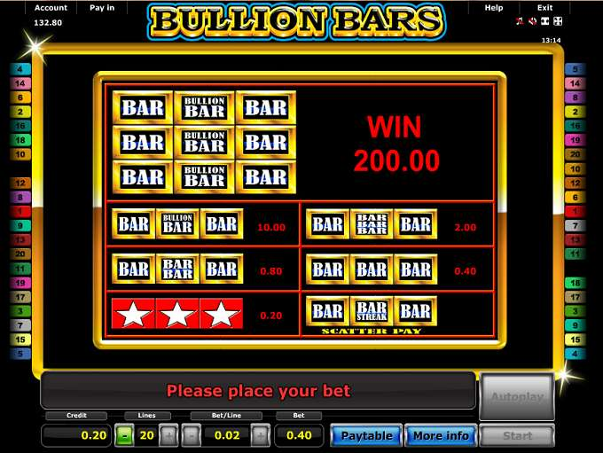 Game Review Bullion Bars
