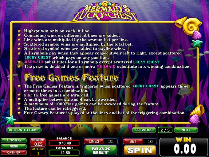 Game Review Mermaid's Lucky Chest