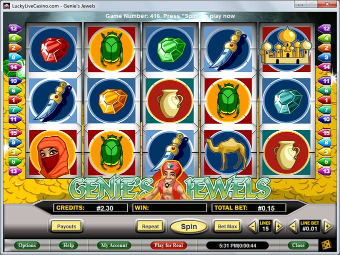 Game Review Genie's Jewels