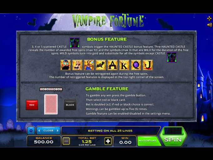 Game Review Vampire Fortune