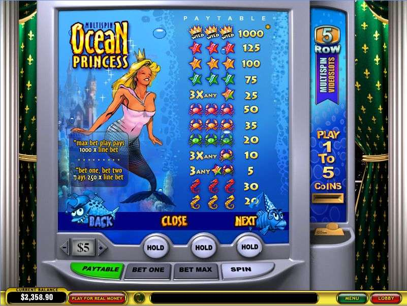 Game Review Ocean Princess Multi-Spin Slot