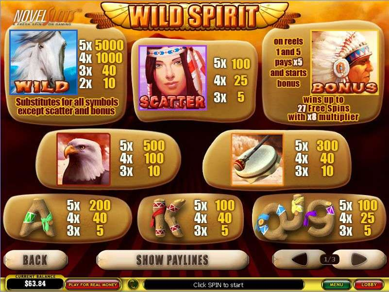 Game Review Wild Spirit