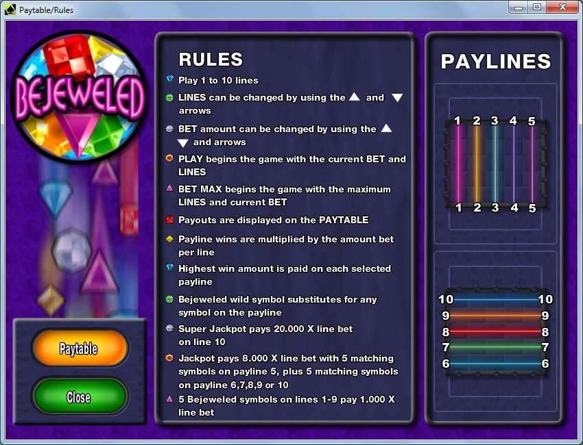 Game Review Bejeweled