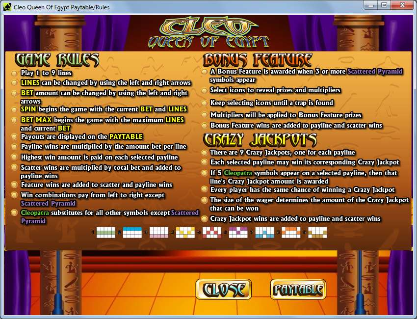 Game Review Cleo - Queen of Egypt