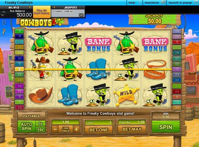 Game Review Freaky Cowboys