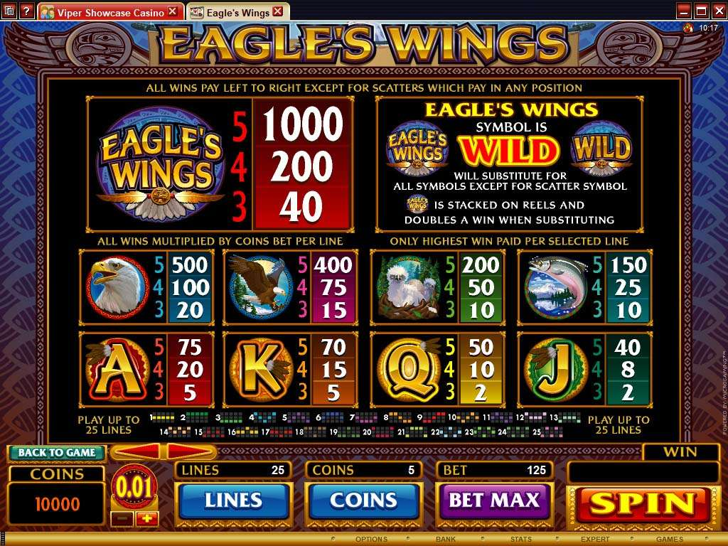 Game Review Eagles Wings