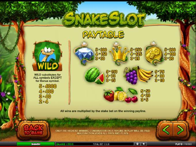 Game Review Snake Slot