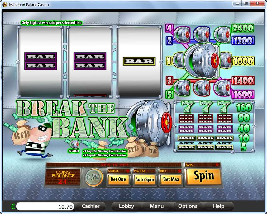 Game Review Break The Bank