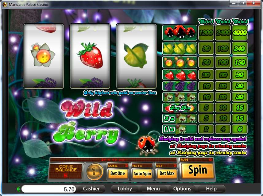 Game Review Wild Berry - 3 Reels