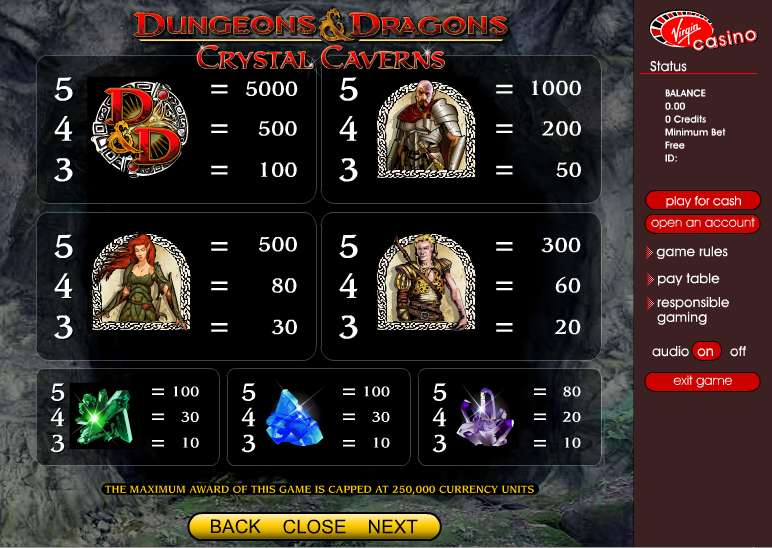 Game Review Dungeons & Dragons - Crystal Caverns