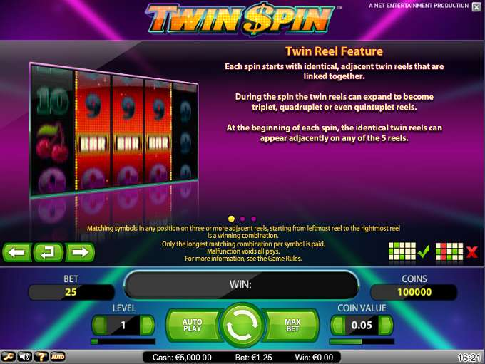 Game Review Twin Spin