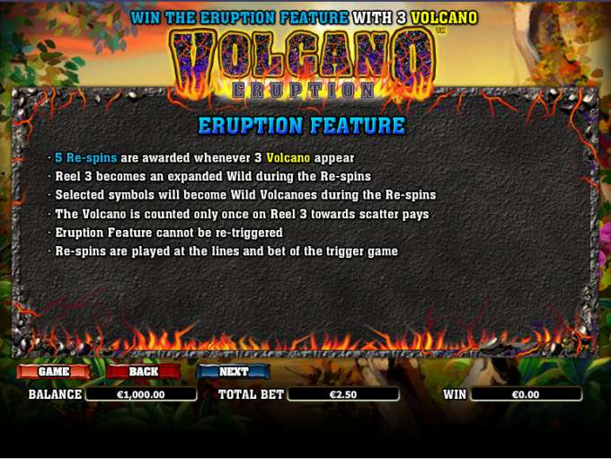 Game Review Volcano Eruption