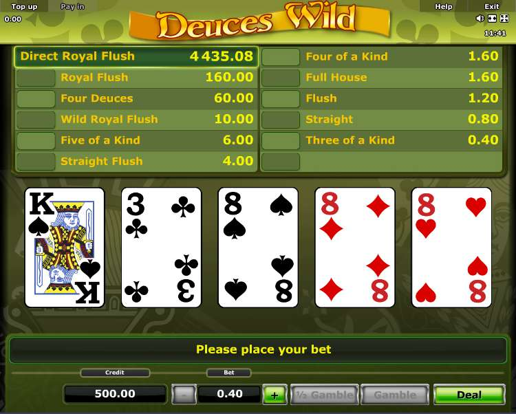 Game Review Deuces Wild