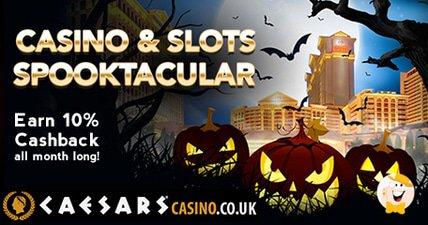Caesars casino and slots spooktacular get cashback all october long at caesars casino