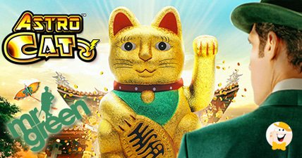 Mr green exclusively launches lightning boxs astro cat slot