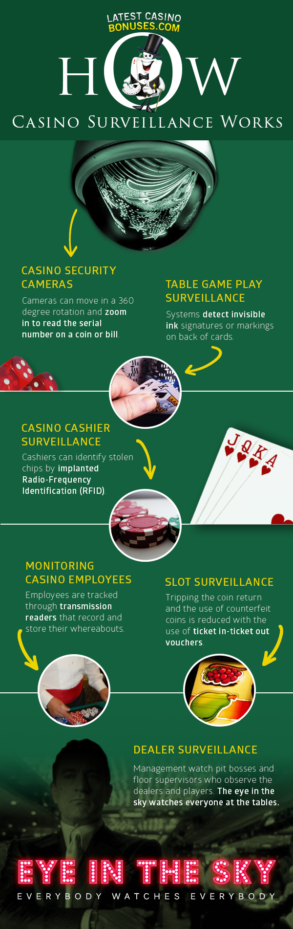 Casino Surveillance Infographic